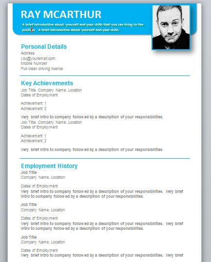 cv template word 2007 goseqh