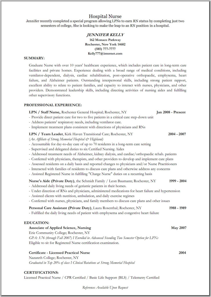 nurse practitioner curriculum vitae sample new resume hospital templates cardiac examples