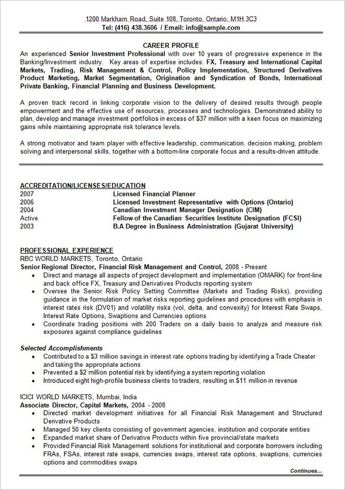 printable-resume-pdf-doc-Banking-Investment-Resume-Format - printable resume format