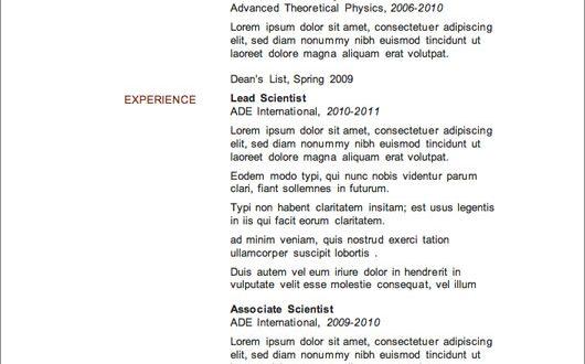 Free Resume Templates Nz - Resume Examples