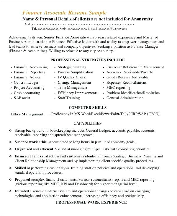 Big 4 Resume Examples - Resume Examples