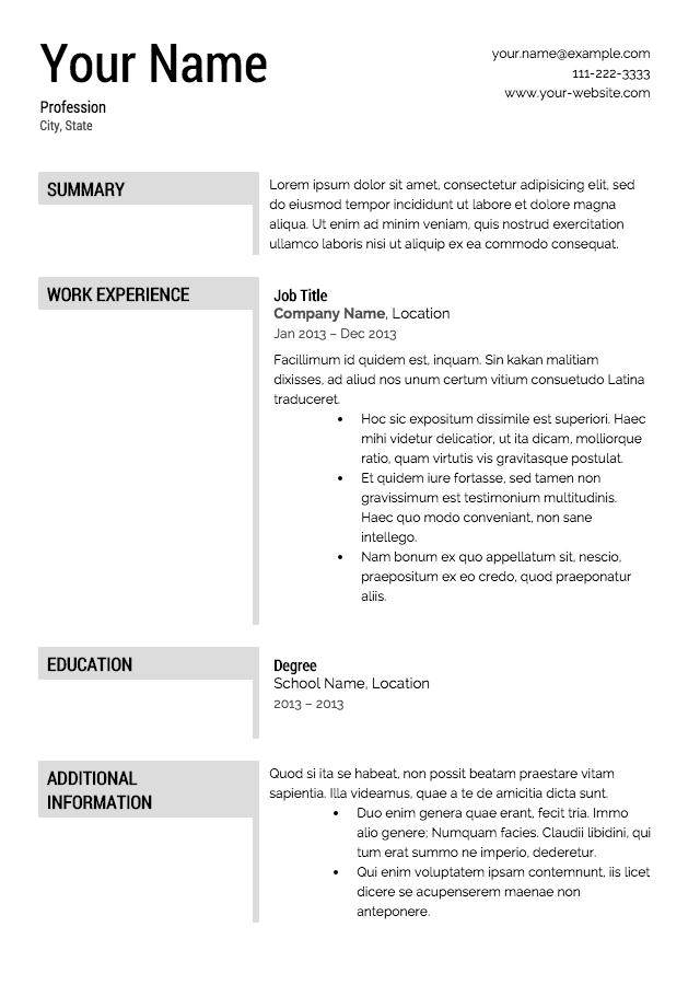 how do i get a free resume template
