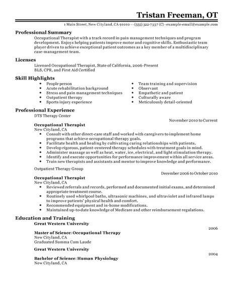 Resume Examples Medical - Resume Examples