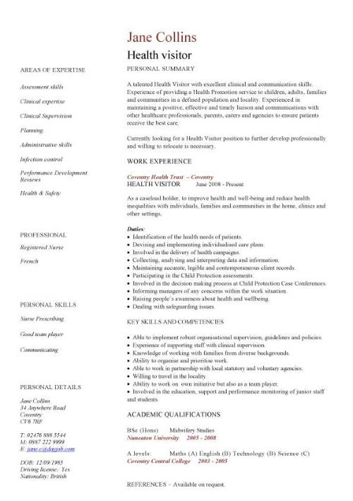 resume template for young professional