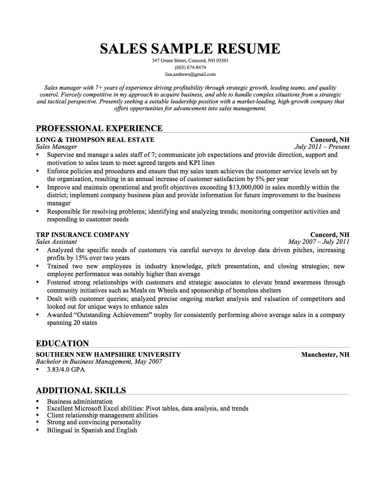 resume job description for inside sales how to write a sales resume retail sales associate cover