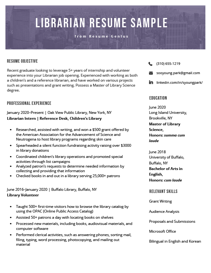 example reference page resume