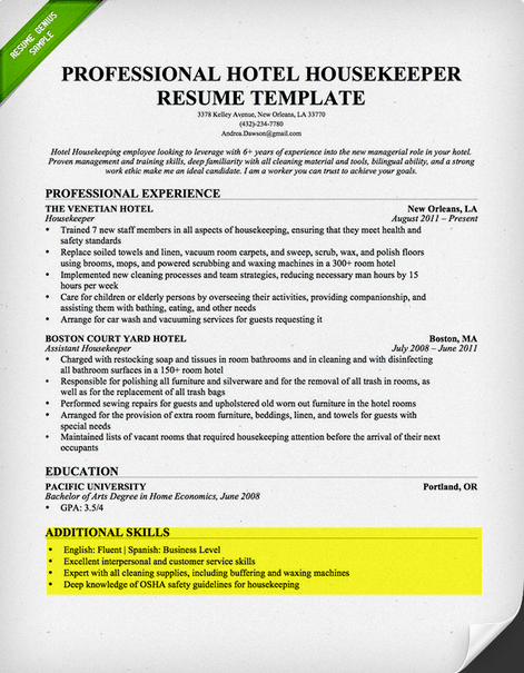 advanced computer skills resume