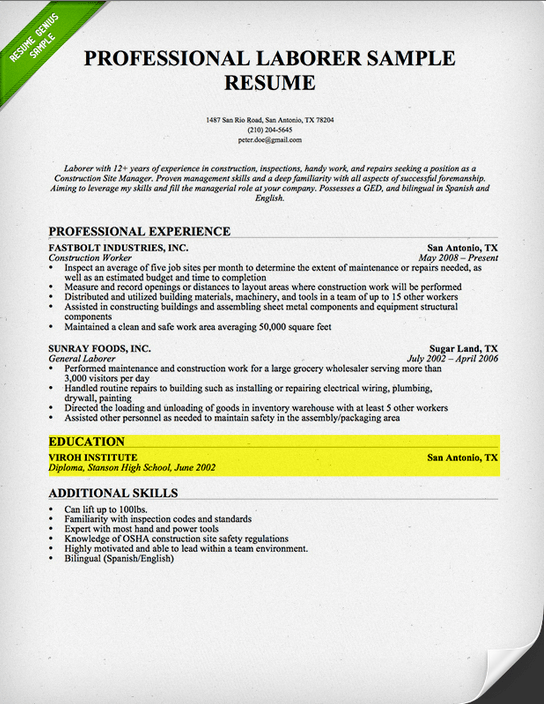 Resume Objective Examples Job Interview Career Guide How To Write A Resume Resume Genius