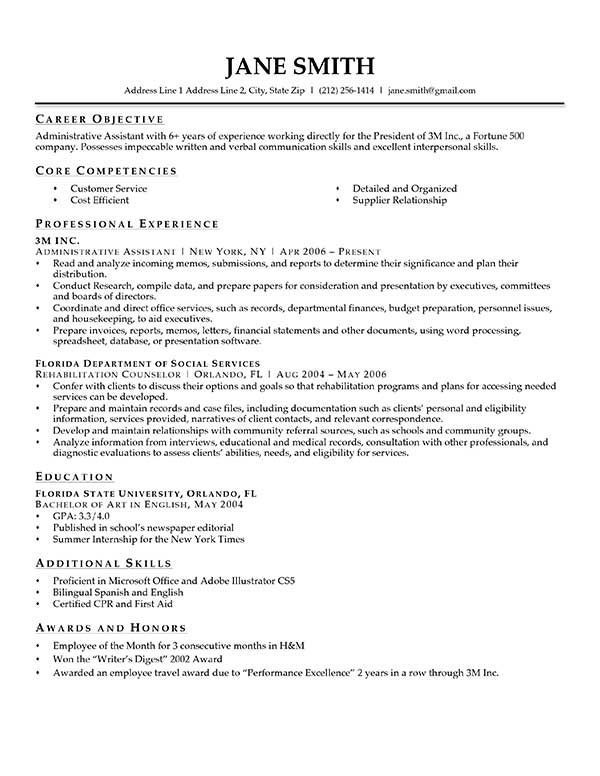 Advanced Resume Templates Resume Genius - resume font type