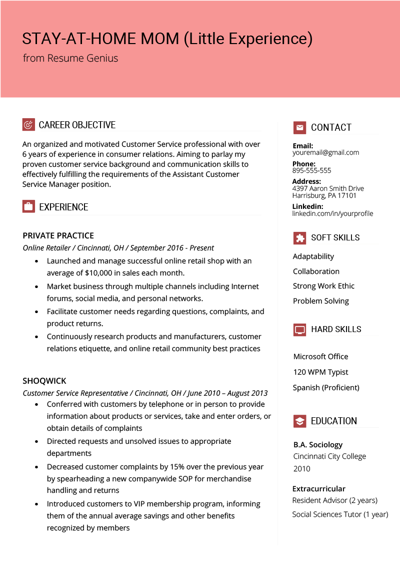 profile part of resume example
