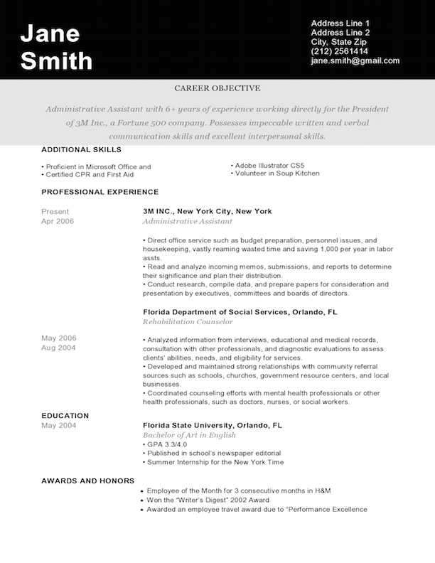 graphic design resume ideas - Yelommyphonecompany - Designing A Resume
