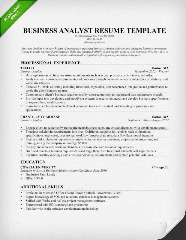 Accounting  Finance Cover Letter Samples Resume Genius - financial systems analyst sample resume