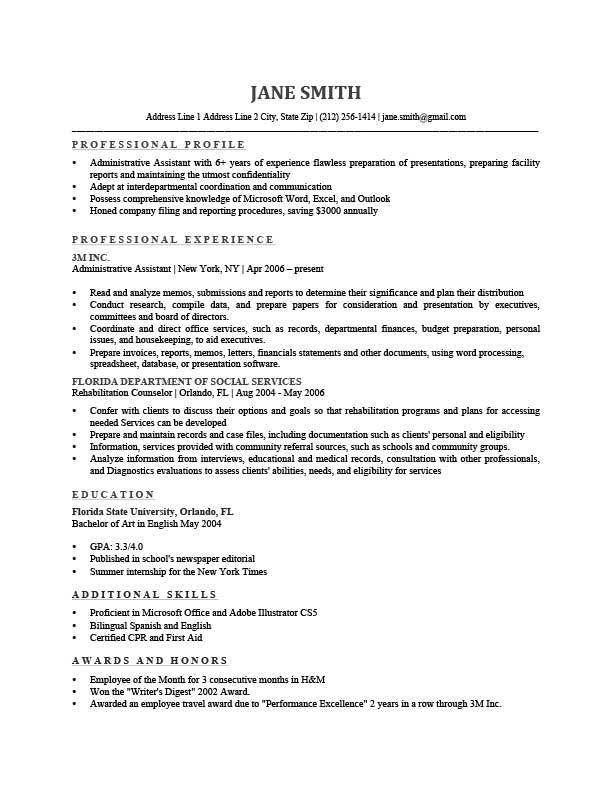 How To Write a Professional Profile Resume Genius - preparing a resume