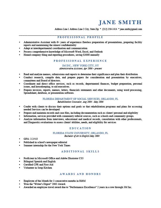 profile section of resume examples - Onwebioinnovate