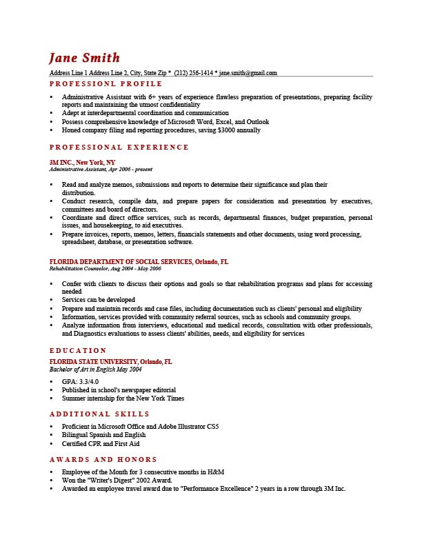 How To Write a Professional Profile Resume Genius - Great Example Of Resume
