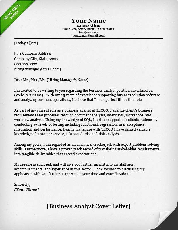 Accounting \ Finance Cover Letter Samples Resume Genius - company business letter