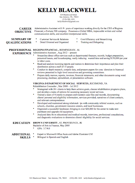 college resume examples harvard
