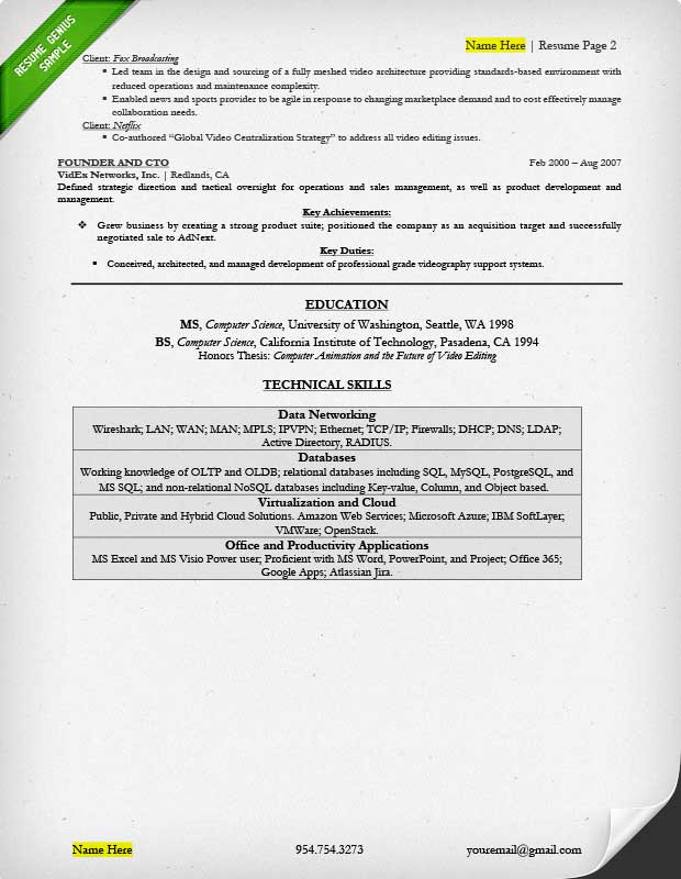 Executive Resume Examples  Writing Tips CEO, CIO, CTO - Achievements For Resume