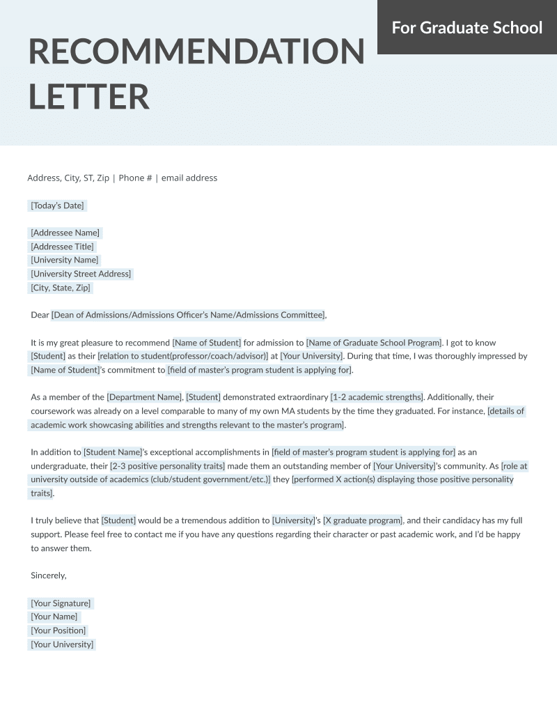 Student and Teacher Recommendation Letter Samples 4 Templates RG - recommendation letter