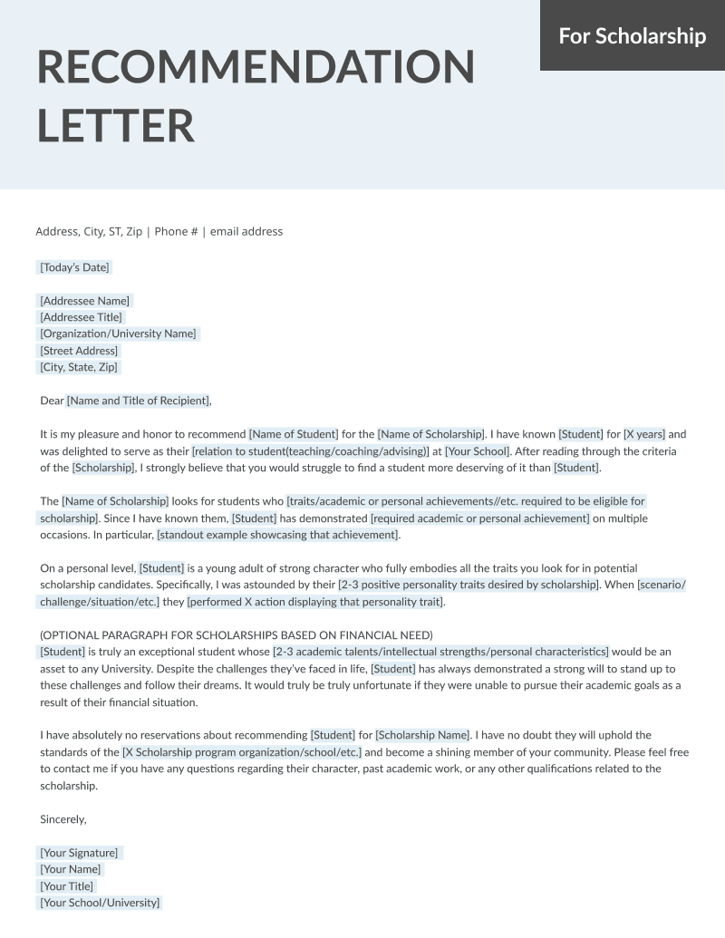 Student and Teacher Recommendation Letter Samples 4 Templates RG - recommendation letters for student
