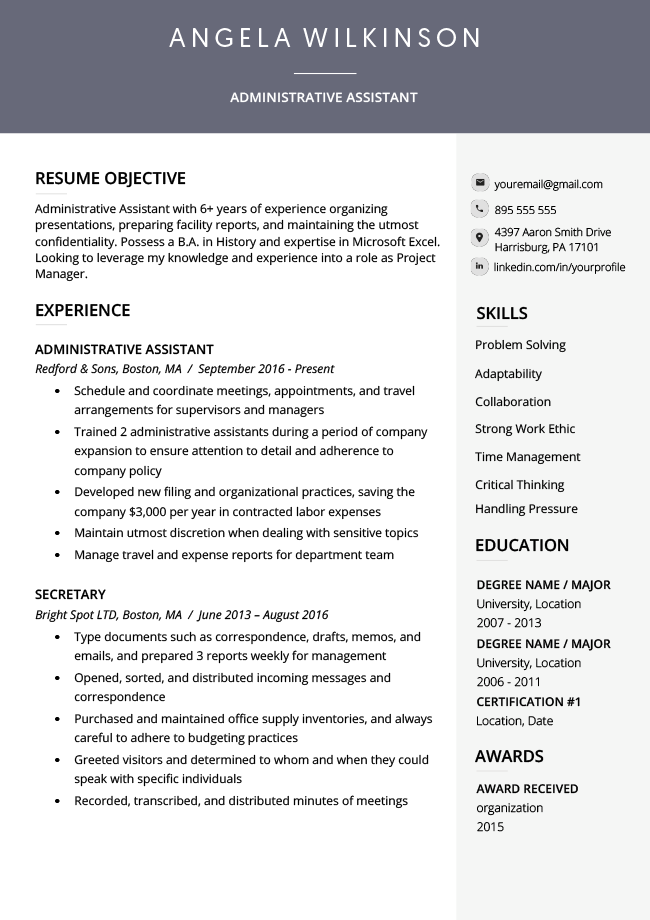 should i use word resume template