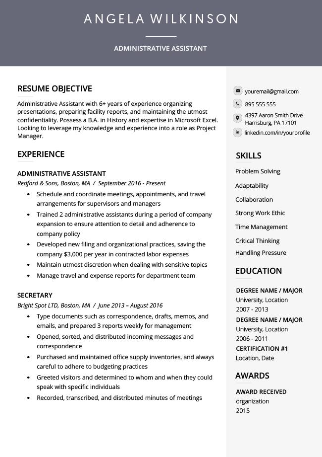 resume genius templates