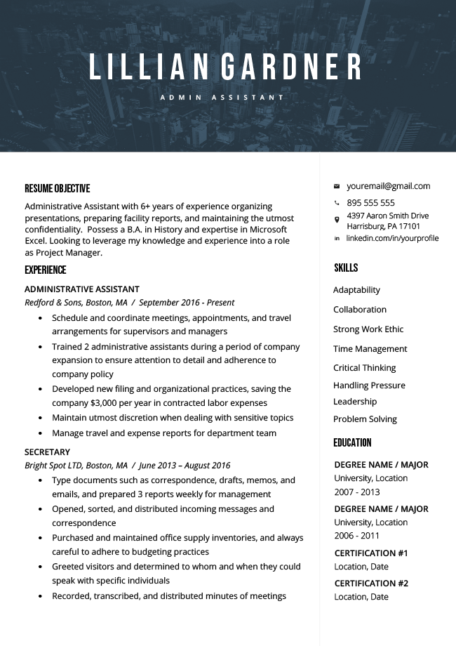 resume how to write career objective