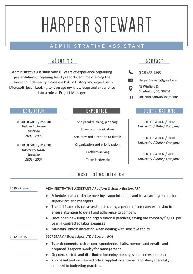 windsor resume template