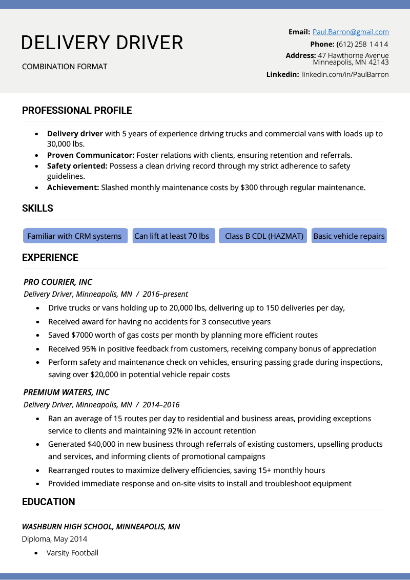 what are examples of skills on a resume