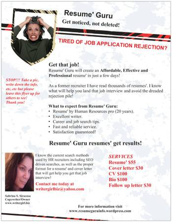 RESUME GURU Resumes\u0027 that will get noticed, not deleted!