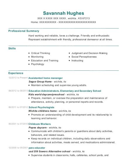 resume help wichita ks