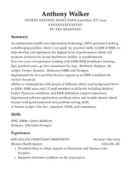 creighton sample resume