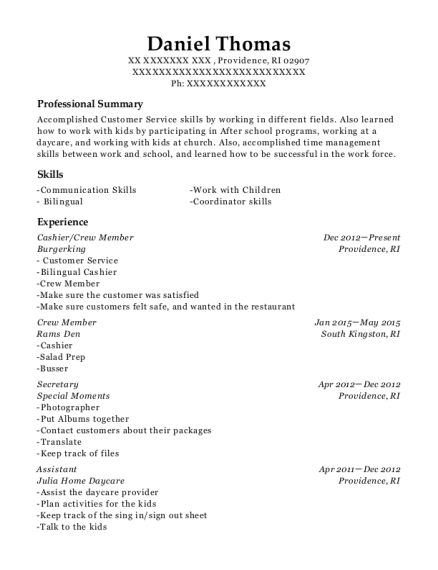 chipotle crew member resume sample