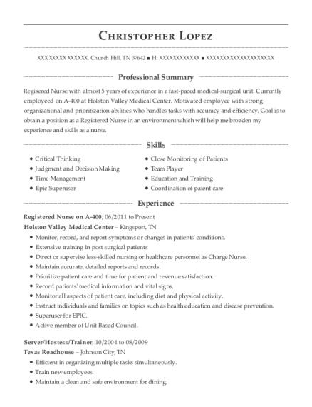 server trainer resume sample