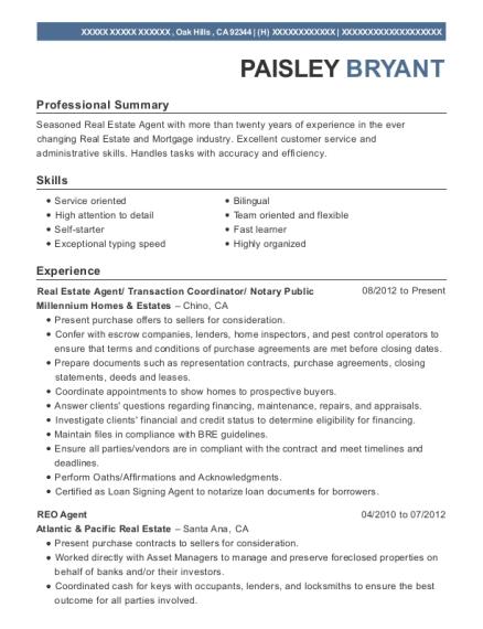 notary public resume sample