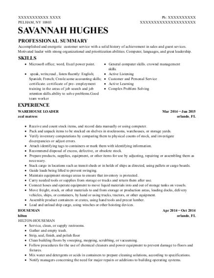 sample resume for pepsi