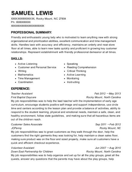 sales associate on resume