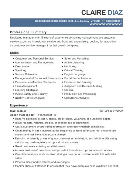 resume for woolworths job