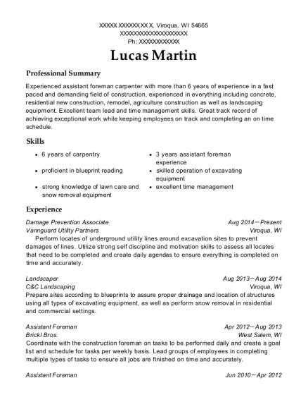 printing associate resume