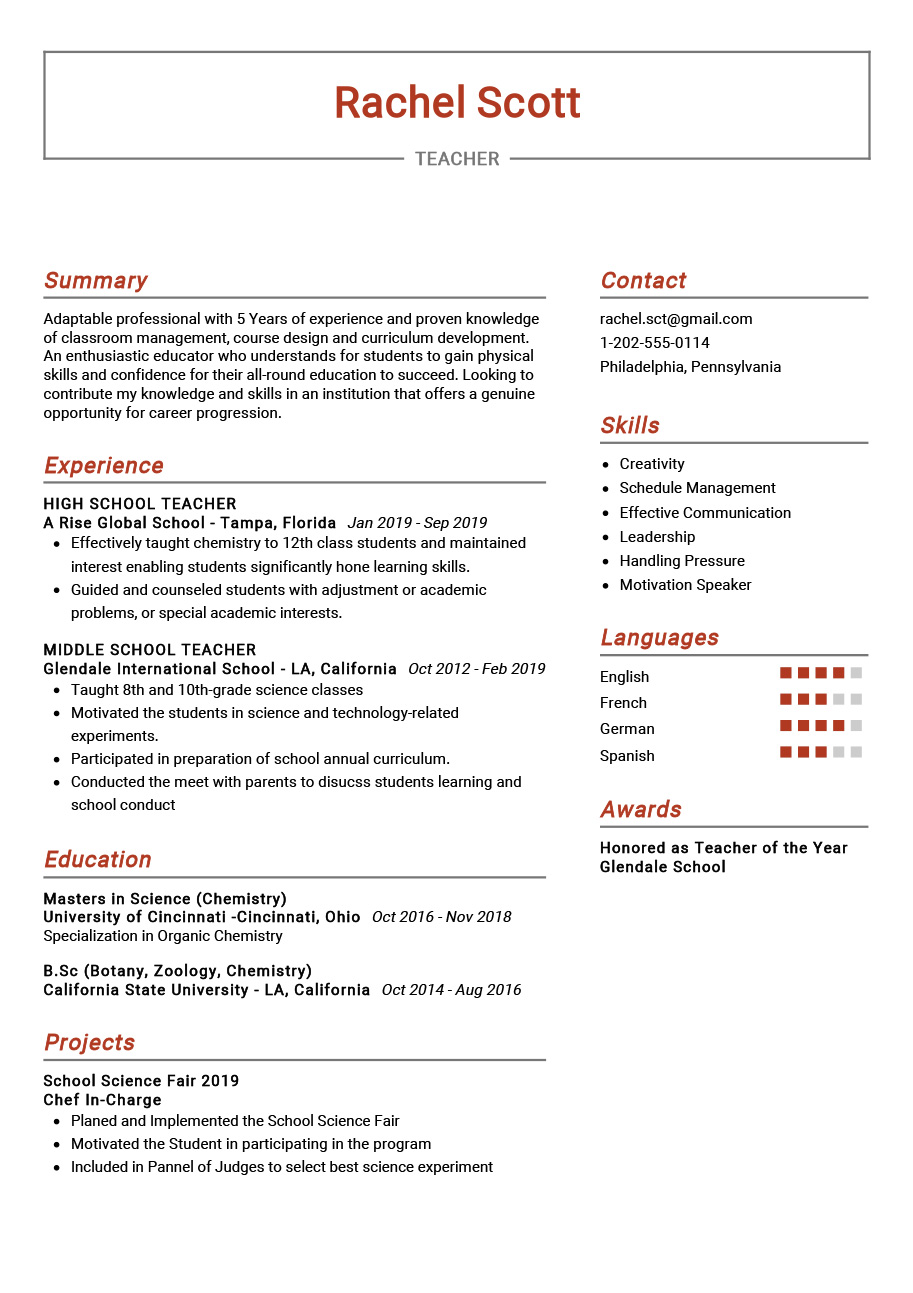 best resume templates for landing the job