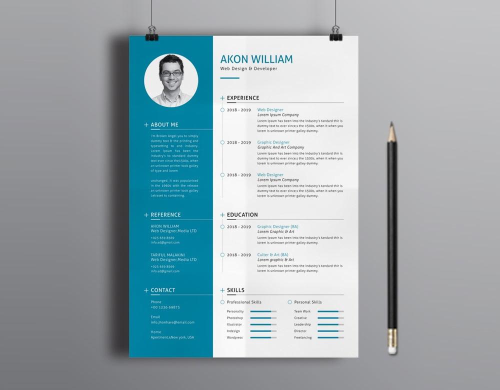 resume templates download modern