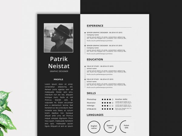 simple clean executive resume templates