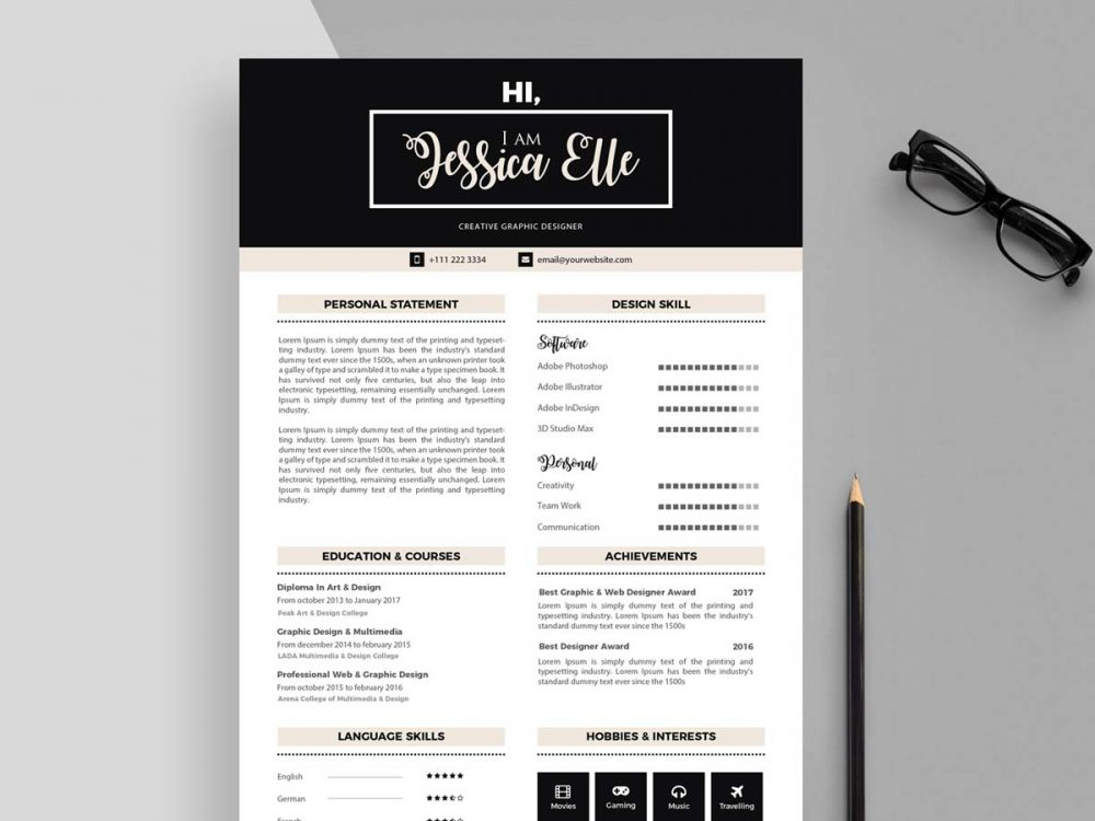 cv background template free