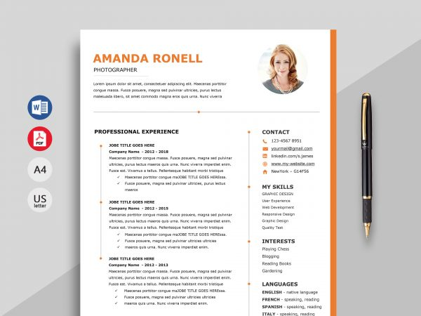 resume templates microsoft word 2019