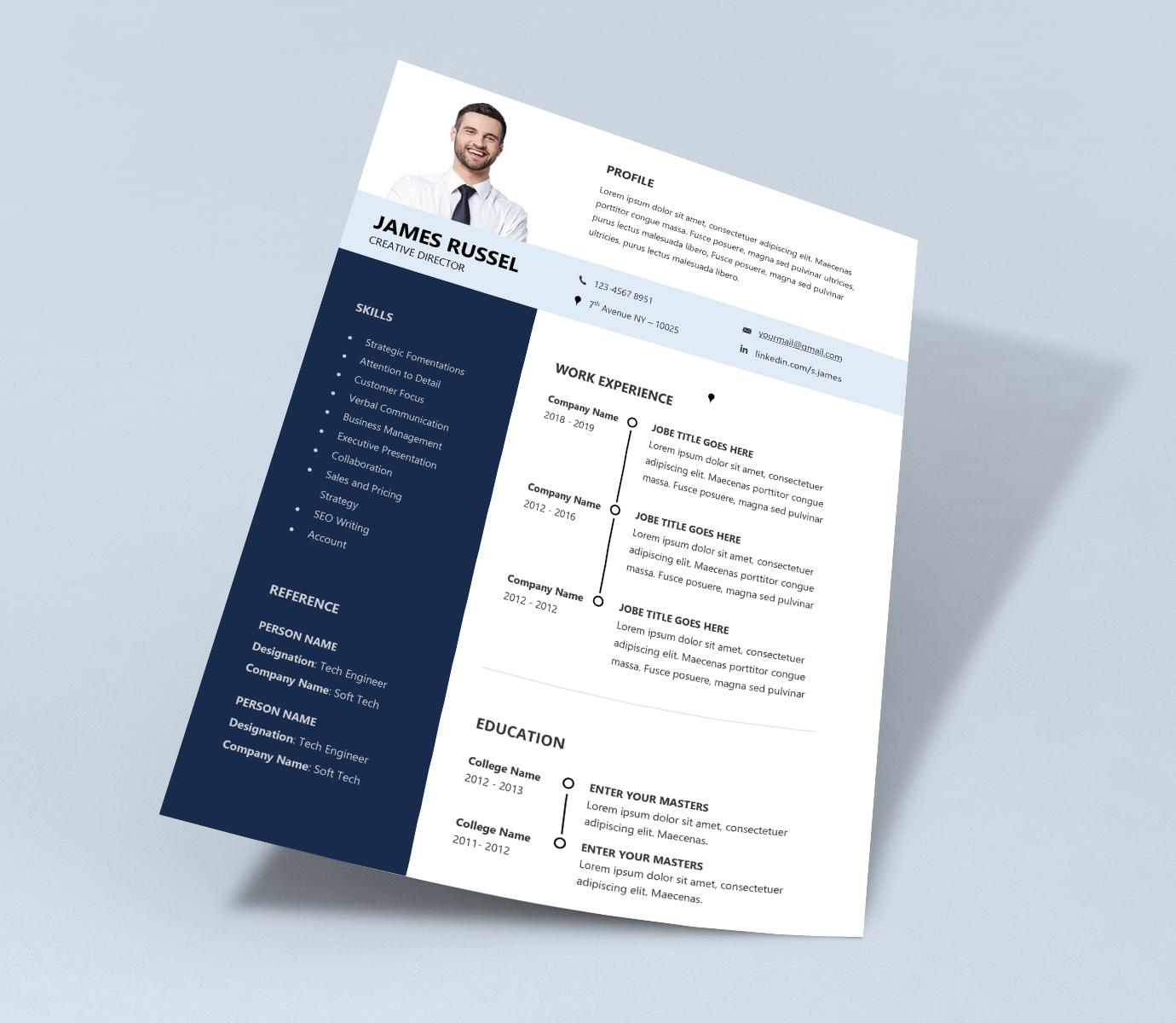resume default font size