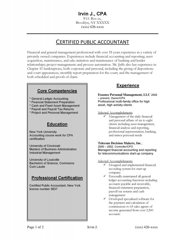 Samples New York Resume Writing Service ResumeNewYork - Fixed Asset Accountant Sample Resume