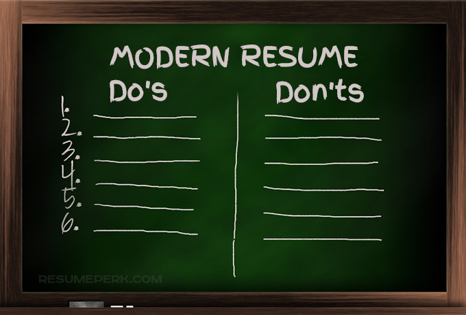 Must-Dos And Don\u0027ts For Modern Resume You Should Know resumeperk - resume dos and donts