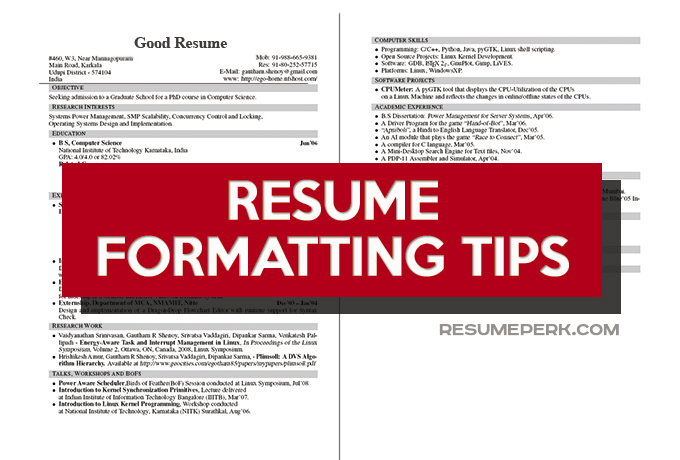 Significant Tips How To Format Your Resume resumeperk