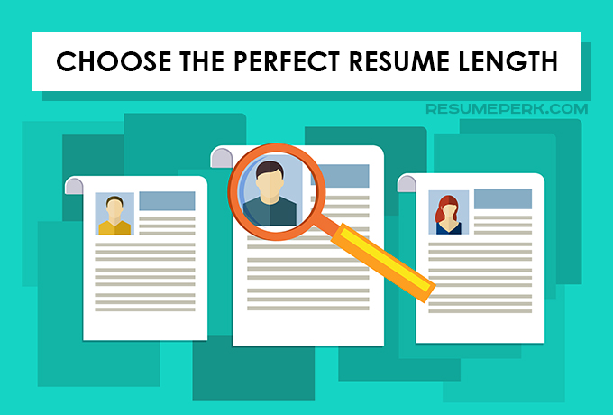 Perfect Length Of Your Resume resumeperk - resume page length