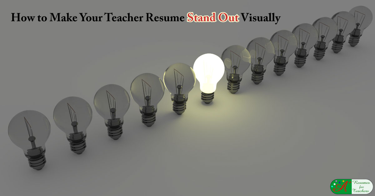 how to make a teacher resumes